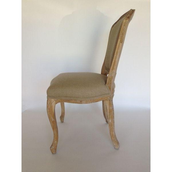 Stoel zonder armleuning orl ans erdek trading company - Linnen stoel ...
